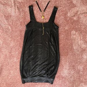 Zara little black snakeskin dress S